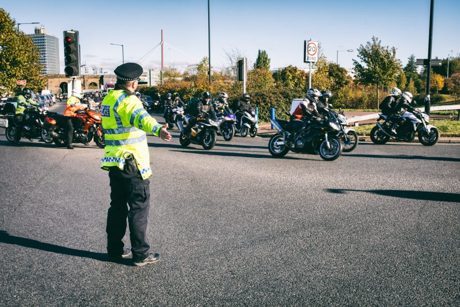 London Motorbike Protest