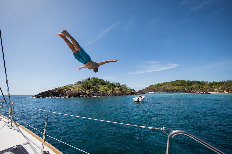 Kopfsprung vor Guadeloupe