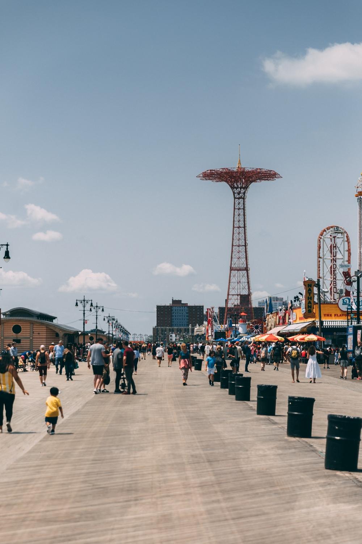 Coney Island Amusement Park in New York City.