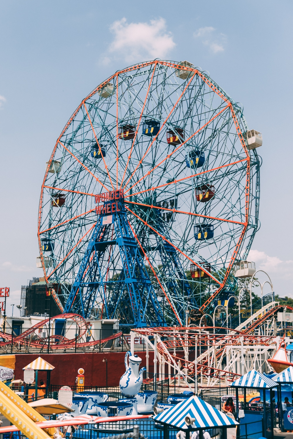 Coney Island Amusement Park in New York City.