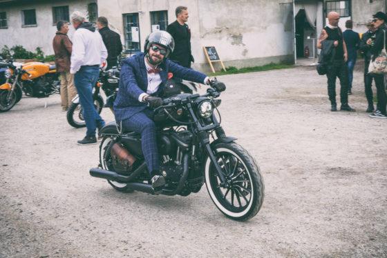 Distinguished Gentleman's Ride on September 24, 2017 in Vienna, Austria.
