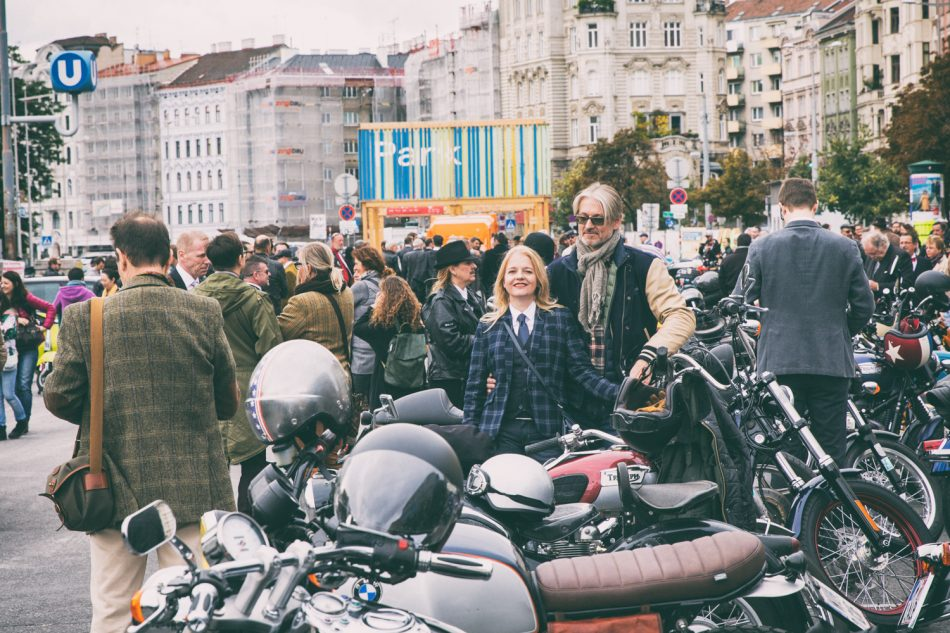 Distinguished Gentleman's Ride on September 24, 2017 in Vienna, Austria.