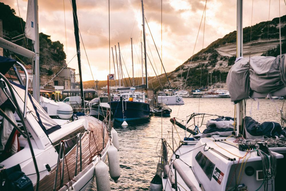 Hafen in Bonifacio, Korsika