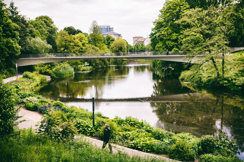 Park nahe der Innenstadt