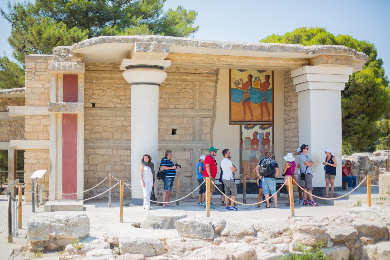 Ausgrabungsstätte des Palasts von Knossos