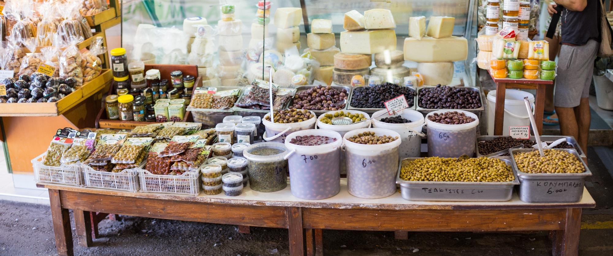 Hafen von Chania, Oliven
