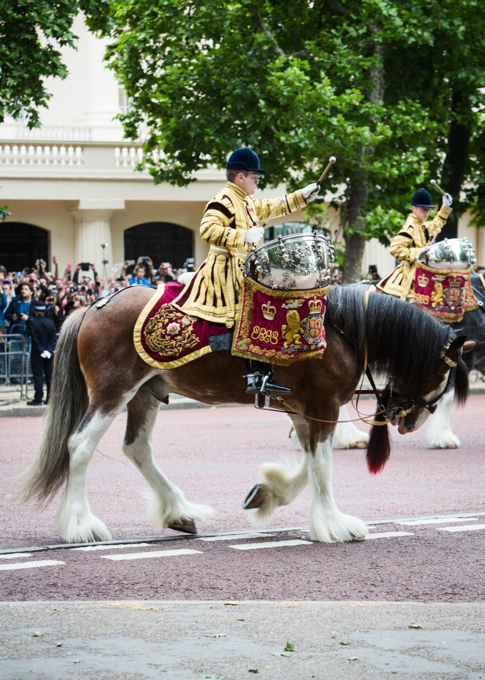 Trooping The Colour 2015 in London.