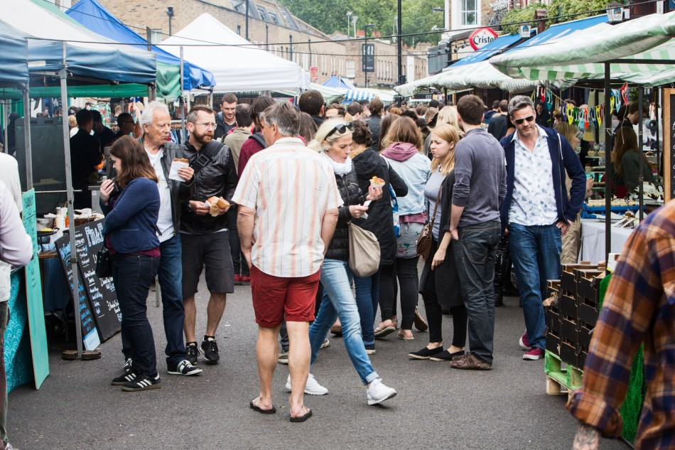 Hipsters in Broadway Market