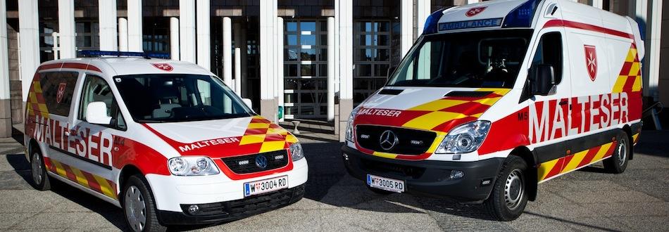 Malteser Rettungsfahrzeuge
