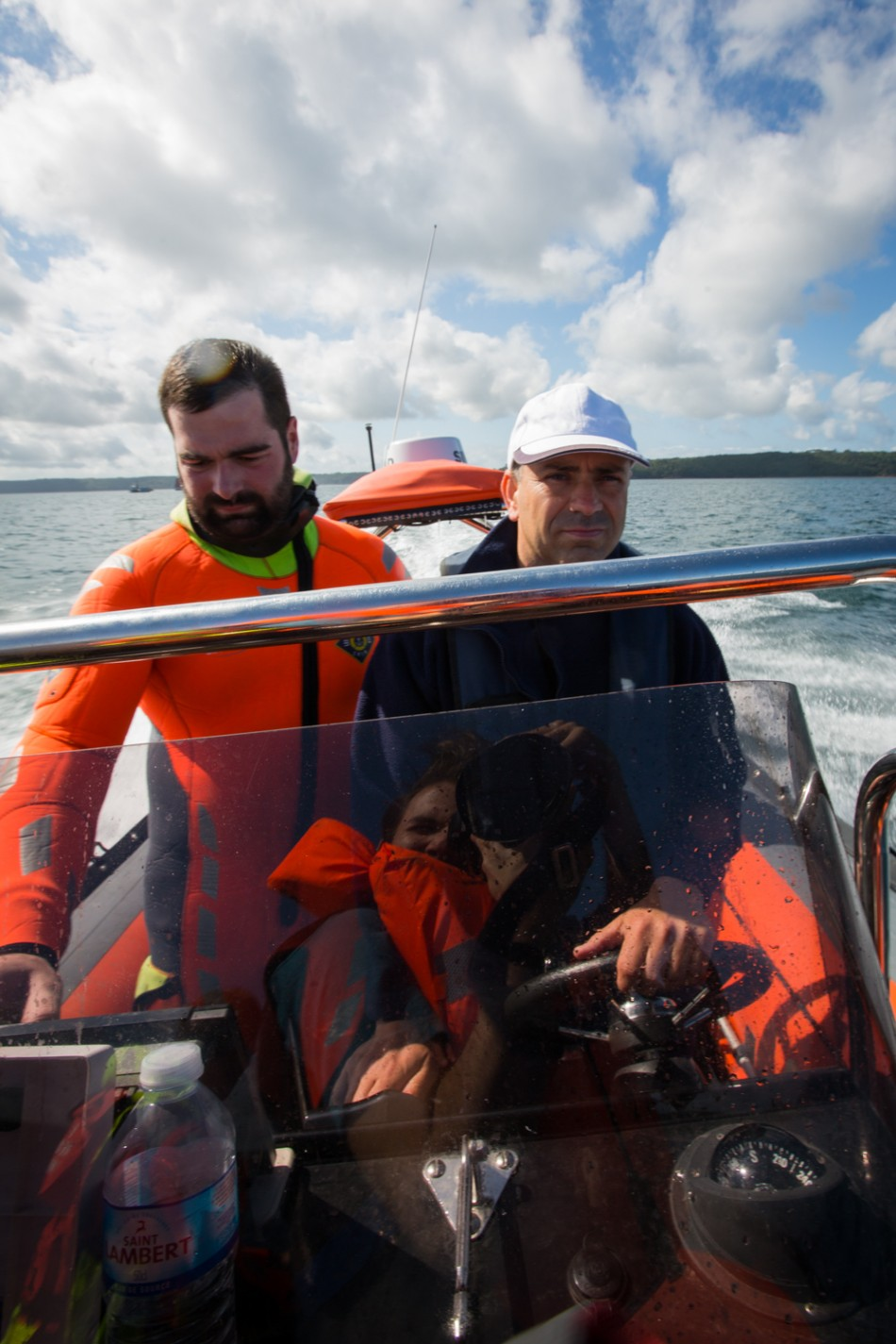 On board a boat of the Société nationale de sauvetage en mer. Photo: Christian Lendl