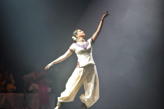 Indische Kathal-Darbietung von Vidha Lal und ihrer Gruppe The Spirit am 20.03.2011 im Akzent Theater