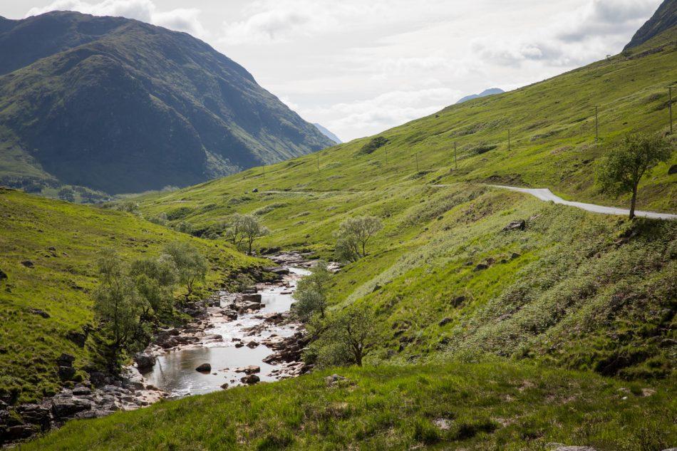 Glen Etive in Schottland